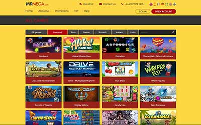 Mr Mega Casino Basic Information